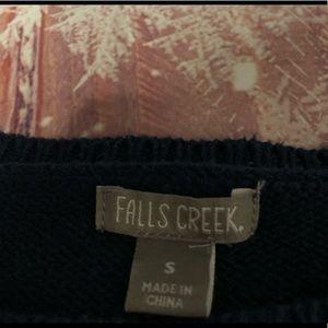 Sweaters - Falls Creek French Bulldog Navy Sweater